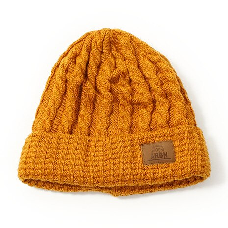 THIN CABLE BEANIE ABB7130 CAMEL