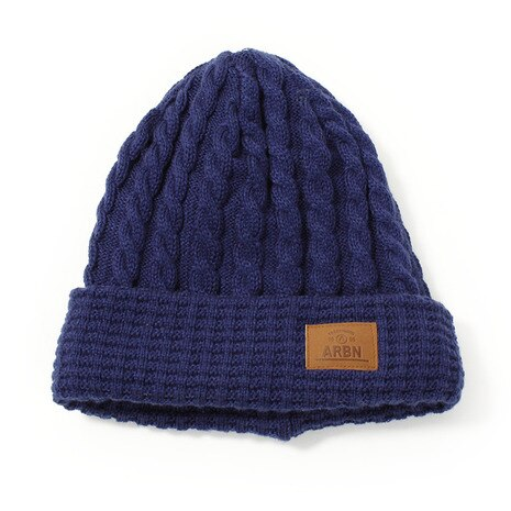 THIN CABLE BEANIE ABB7130 NAVY