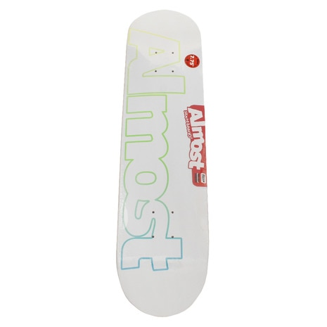 101015000101 TEAM FADED OUTLINE WHITE 7.75