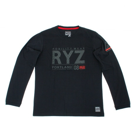 SLASHED RYZ L/S 869R7CD2403 BLK 長袖Tシャツ