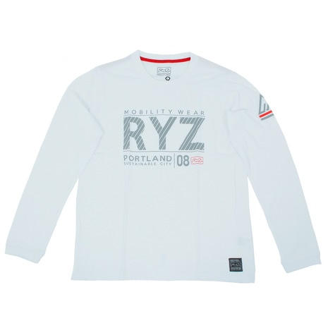 SLASHED RYZ L/S 869R7CD2403 WHT 長袖Tシャツ