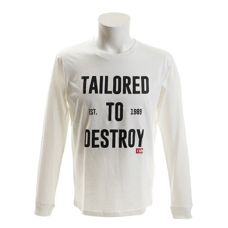 TAILORED TO DESTROY TAILORED TO DESTROY ロングスリーブTシャツ WHT