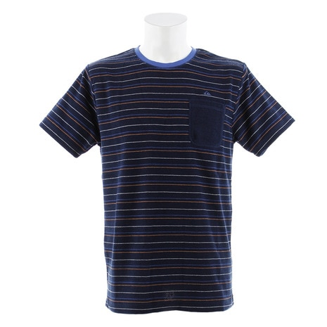 STRIPED PILE Tシャツ QST182039NVY2