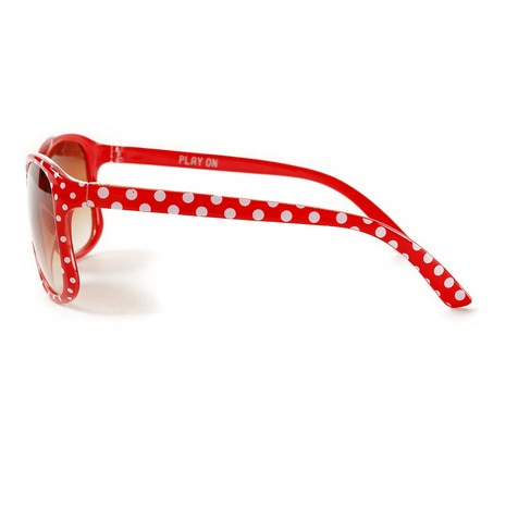 ジュニア FASHION GLASSES SQUARE DOT RED SFKY1507