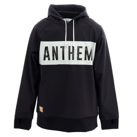 BONDED SWITCH LOGO HOODIE AN1911 03 BLACK