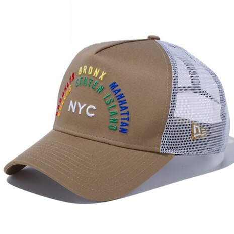 9FORTY A-Frame Trucker NYC Rainbow 5boro カーキ ホワイトメッシュ 11469982